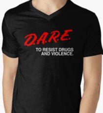 dare to resist drugs and violence Men's V-Neck T-Shirt