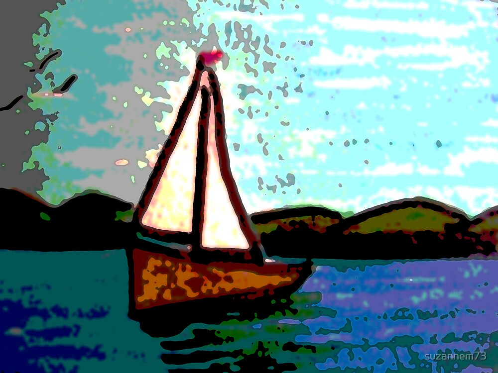 Simple Art Sailboat by suzannem73