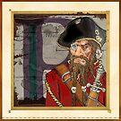 P is for Captain Perry Pork-Beard. by John Gieg