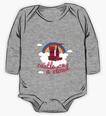 Body de manga larga para bebé Castillo en una nube