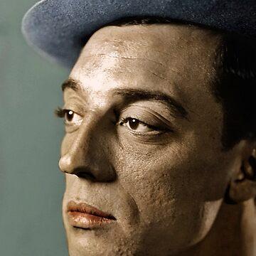 Buster Keaton Color Portrait  by nicoletteabides