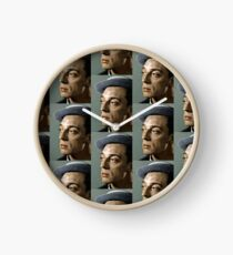 Colorized Buster Keaton Portrait Clock