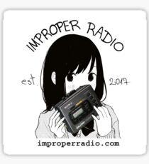 improper radio bump Sticker