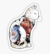 Kitsune Cat Tattoo  Sticker