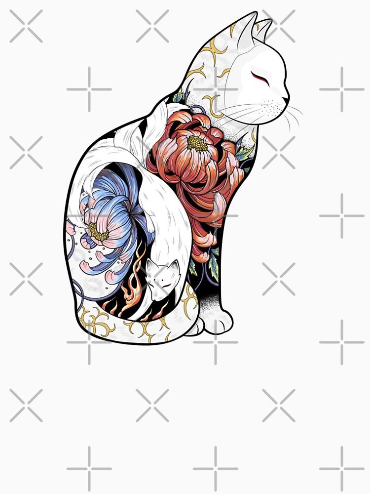 Kitsune Cat Tattoo  by runcatrun