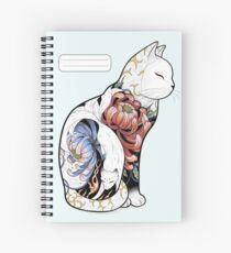 Cuaderno de espiral Tatuaje del gato de Kitsune