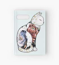 Kitsune Cat Tattoo  Hardcover Journal