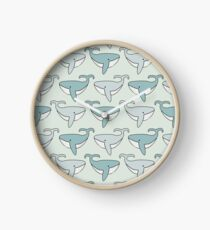 Cute Whales are Happy Whales Clock