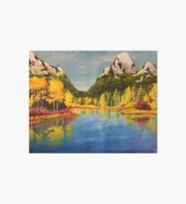 Landscape with yellow trees Art Board