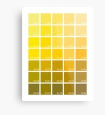 Shades of Yellow Pantone Metal Print