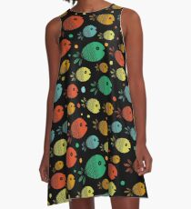 Happy Fish A-Line Dress