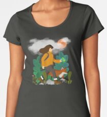The wanderer and the fox Premium Scoop T-Shirt