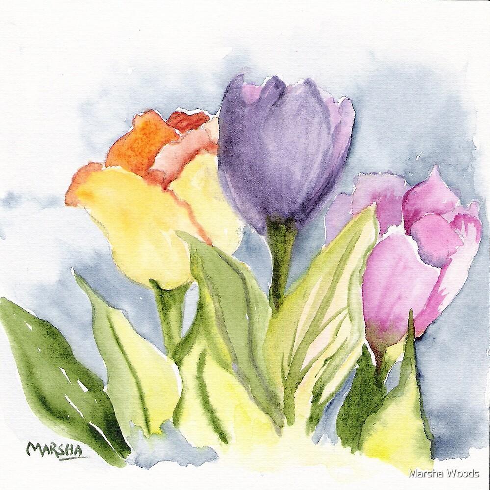 Vicki's Tulips by Marsha Woods