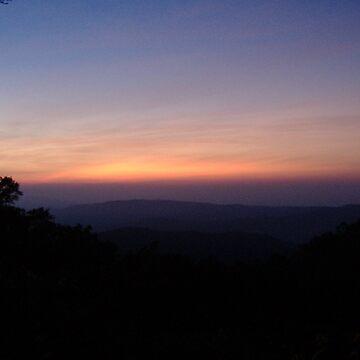 Sunrise at the city Bandarawela by ravana