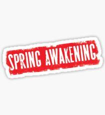 Original Logo Spring Awakening Bway Sticker