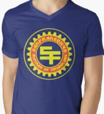 San Fransokyo Institute of Technology (Text) Men's V-Neck T-Shirt
