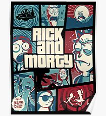 Rick and Morty GTA cover Poster