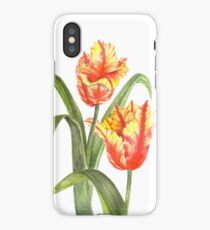 Yellow Parrot Tulips iPhone Case