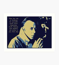 Christopher Hitchens Quote Art Print