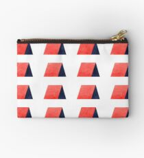 Red Blue Watercolor Pattern Studio Pouch