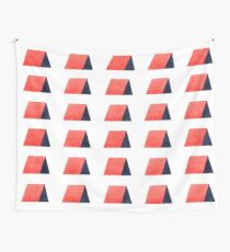 Red Blue Watercolor Pattern Wall Tapestry