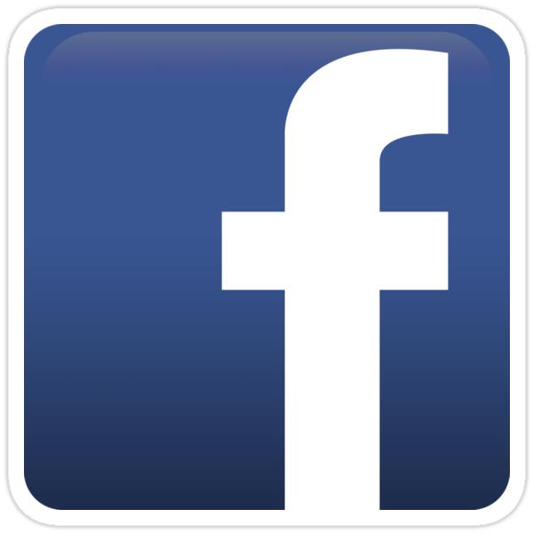 facebook logo icon stickers by alkoal redbubble