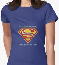 Woman of Steel - Scoliosis Awareness Women's Fitted T-Shirt