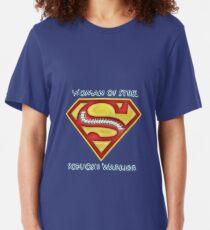 Woman of Steel - Scoliosis Awareness Slim Fit T-Shirt