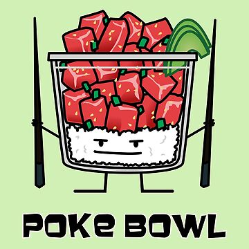 379adda774f Poke bowl Hawaii raw fish salad chopsticks aku by BereniceLimon