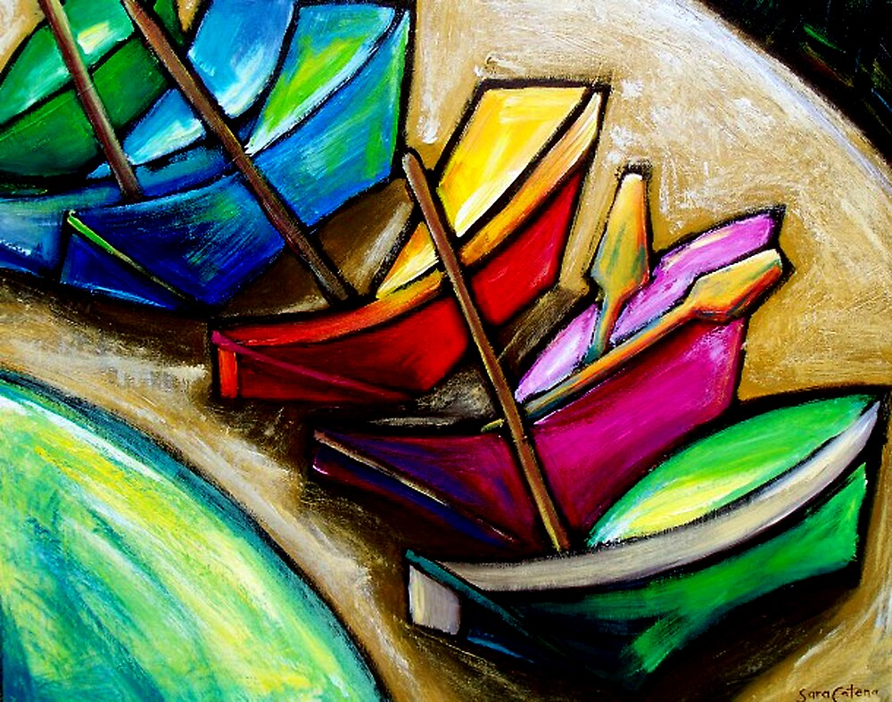 FISKARDO  BAY. by ART PRINTS ONLINE         by artist SARA  CATENA