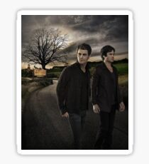 Damon and Stefan - The Vampire Diaries - Season 7 - Promotional Poster  Sticker
