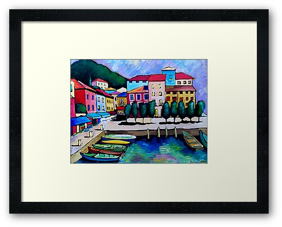 SUMMER IN MALCESINE - FRANCE. by ART PRINTS ONLINE         by artist SARA  CATENA
