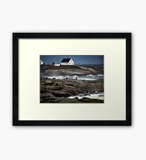 Out on the Rocks, Peggy's Cove, Nova Scotia Framed Print