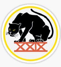 USAFA CS-29 Black Panthers Patch Logo Sticker