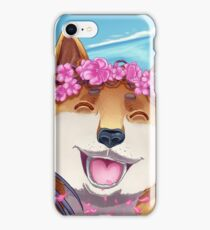 Happy with a Shiba iPhone Case/Skin