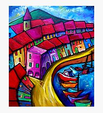 COLOURFUL PORT OF CORRICELLA - ITALY. Photographic Print