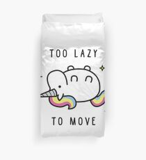 Too Lazy To Move Unicorn T-Shirt Duvet Cover