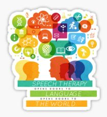 Speech Therapy Opens Doors to the World Sticker
