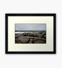 Wet Granite, Peggy's Cove, Nova Scotia Framed Print