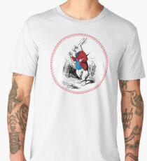 Alice in Wonderland | White Rabbit checking his Watch Men's Premium T-Shirt