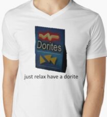 just relax have a dorite Men's V-Neck T-Shirt