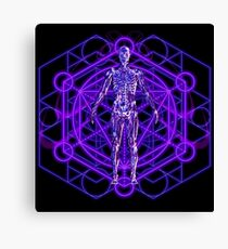Sacred Geometry and the Human Body Canvas Print