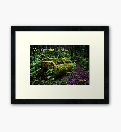 """""""Wait"""" Framed Print"""