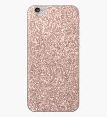 Rosa Rose Gold Metallic Glitter iPhone-Hülle & Cover