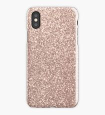 Pink Rose Gold Metallic Glitter iPhone Case/Skin