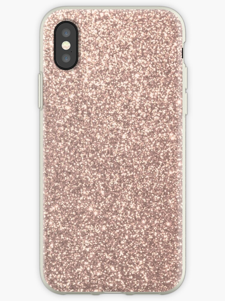 the latest e0f21 ad4d2 'Pink Rose Gold Metallic Glitter' iPhone Case by podartist