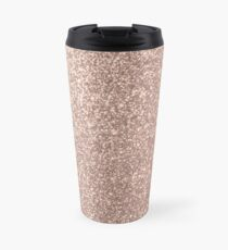 Rosa Rose Gold Metallic Glitter Thermobecher