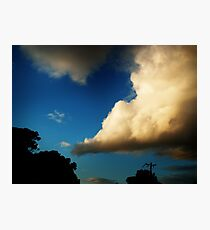 i love big clouds Photographic Print