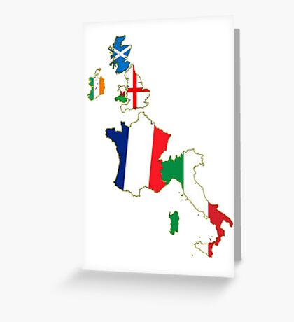 Six Nations Championship  Greeting Card