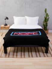 Nope Throw Blanket